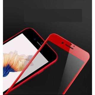 ML008 iPhone8 7対応 3D 耐衝撃ガラスフィルム   赤/レッド(ブレスレット)