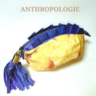 アンソロポロジー(Anthropologie)のAnthropologie  キャンバス地×レザーポーチ(ポーチ)