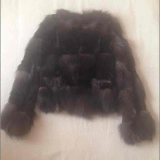 シェル(Cher)のお値下げ 美シルエット♡ Cher シルバーフォックス コンパクト ファーコート(毛皮/ファーコート)
