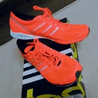 アディダス(adidas)の靴 陸上 レーシング アディダス オレンジ 蛍光 新品(陸上競技)