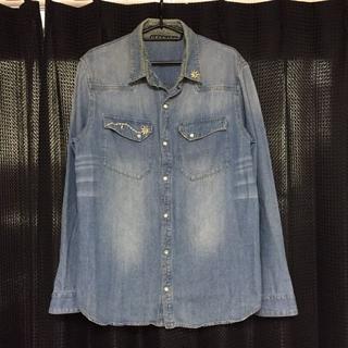ジェンナロ(GENNARO)の刺繍デニムシャツ REMIRELIEF レミレリーフ好きに メンズ(シャツ)