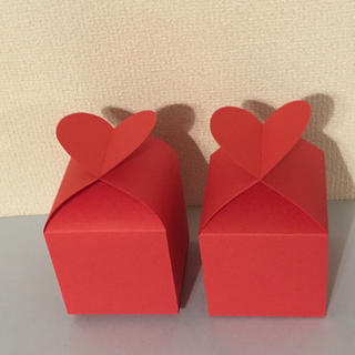 バレンタイン♡ハートのギフトボックス2個セット(その他)