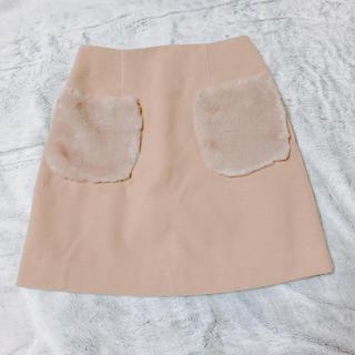 アーベーセーアンフェイス(abc une face)のファーポケット スカート(ミニスカート)