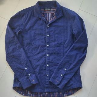 ニコルクラブフォーメン(NICOLE CLUB FOR MEN)のニコルクラブフォーメン 48 ストライプシャツ ブルー(シャツ)