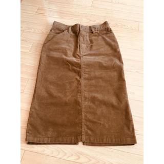 MUJI (無印良品) - 無印良品 コーデュロイタイトスカート