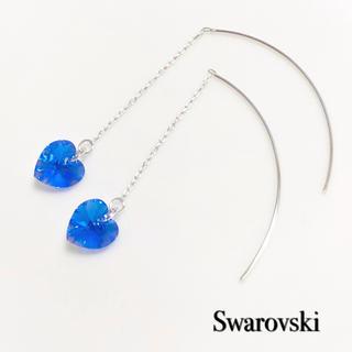 SWAROVSKI - スワロフスキーアメリカンピアス♡サファイヤオーロラハート