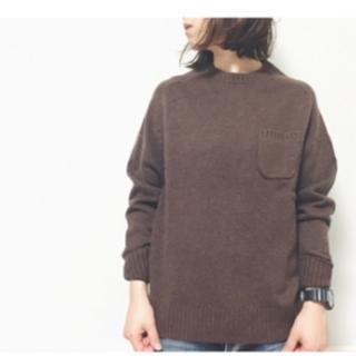 ジーユー(GU)の値下げ!ラムブレンドクルーネックセーター(ニット/セーター)