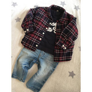 ムジルシリョウヒン(MUJI (無印良品))のベビー☆コットン シャツ 90(ブラウス)