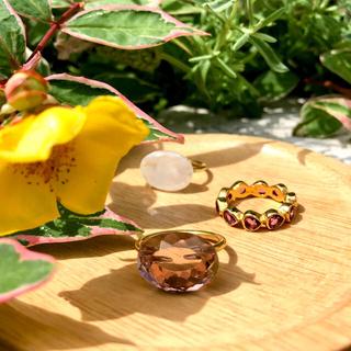 《フルール♡様 専用》ピンクモルガナイト オーバル リング(リング(指輪))