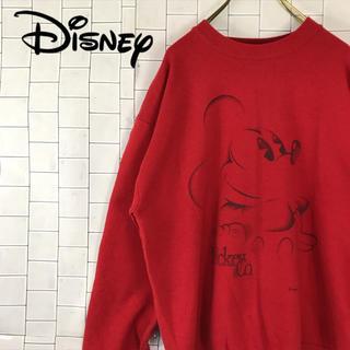 ディズニー(Disney)の古着 90s ディズニー ミッキー スウェット ビッグプリント USA製(スウェット)