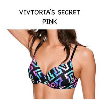 ヴィクトリアズシークレット(Victoria's Secret)の⭐️PINKヴィクトリアシークレット マルチカラーロゴ C65(ブラ)