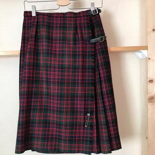 タータンショップヨーク(TARTANSHOP YORK)のグレンネイビス タータンチェック巻きスカート(ひざ丈スカート)