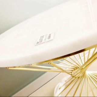 ザラホーム(ZARA HOME)の新品 ZARA HOME ザラホーム メタルフレーム 大理石 テーブル ゴールド(コーヒーテーブル/サイドテーブル)