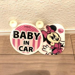 ディズニー(Disney)のディズニー☆子供乗車中(車内アクセサリ)