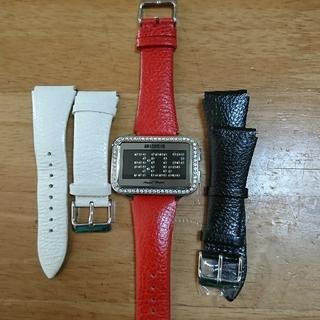 ASH & DIAMONS,Angel Heart スワロフスキー 腕時計
