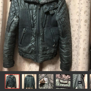 ディーアンドジー(D&G)の美品ドルチェ&ガッバーナ  キルティングボアライダースジャケット(ライダースジャケット)