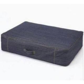MUJI (無印良品) - 無印良品  綿デニム 布団収納袋