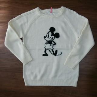 ディズニー(Disney)のミッキー ホワイトニット セーター(ニット/セーター)