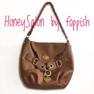 ハニーサロンバイフォピッシュ(honey salon by foppish)のHoneySalon by foppish《秋冬》 ハートチャーム ハンドバッグ(ハンドバッグ)