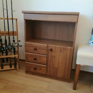 🔺引き取り限定🔺キレイ目です木製 完成品 マルチ ラック 電話 ファックス台(電話台/ファックス台)