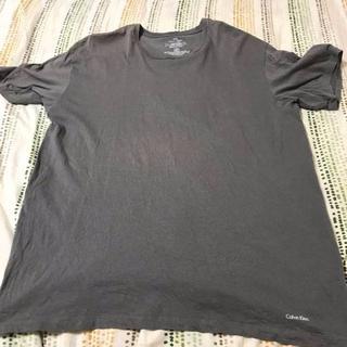 シーケーカルバンクライン(ck Calvin Klein)のCK カルバン クライン Tシャツ 灰色 XLサイズ 美品(Tシャツ/カットソー(半袖/袖なし))