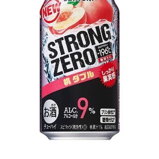 サントリー-196℃ストロングゼロ<桃ダブルチューハイ 350ml×24缶(リキュール/果実酒)
