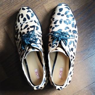 スライ(SLY)のSLYスライ靴レオパード柄sizeL(24~24.5センチ)(ローファー/革靴)