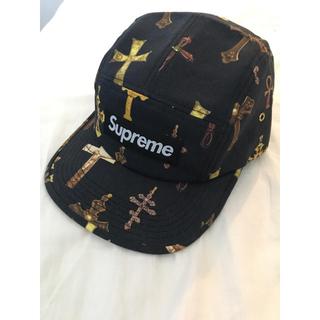 シュプリーム(Supreme)のsupreme crosses camp cap black ブラック(キャップ)