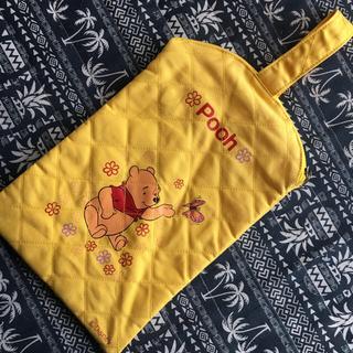 ディズニー(Disney)のズック袋 プーさん ファスナー付(シューズバッグ)
