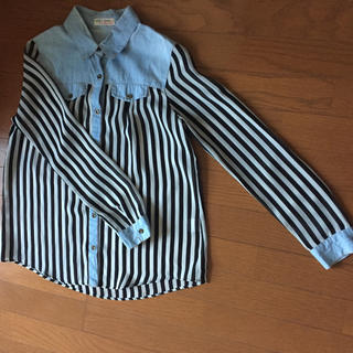 シマムラ(しまむら)の[しまむら]160 ストライプ長袖シャツ(Tシャツ/カットソー)