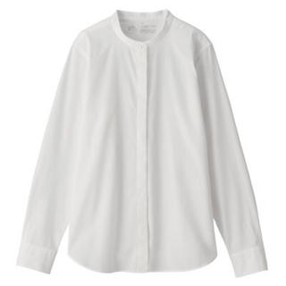 MUJI (無印良品) - NEW 比翼スタンドカラーシャツ
