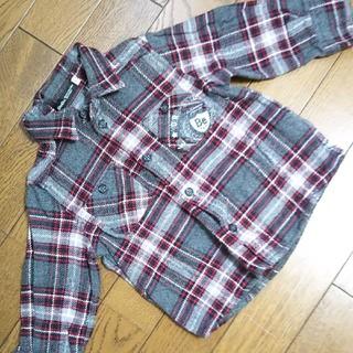 ベベ(BeBe)のべべ☆BEBE☆チェックシャツ☆サイズ80(シャツ/カットソー)