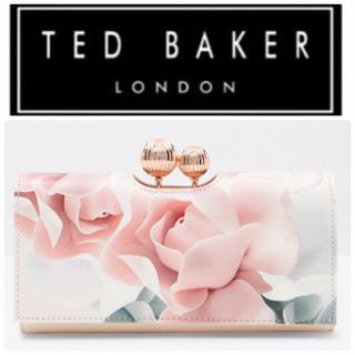 テッドベイカー(TED BAKER)のTED BAKER♠︎新品.箱付き♠︎レザー長財布 フラワープリント  (財布)