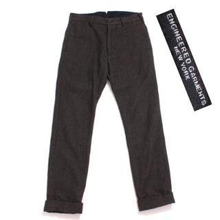 エンジニアードガーメンツ(Engineered Garments)のENGINEERED GARMENTS シンチベルト ヘリンボーン ウールパンツ(その他)