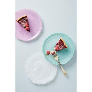 アンソロポロジー(Anthropologie)のアンソロポロジー 3枚セット サイドプレート ケーキ皿 ガラス 花(食器)