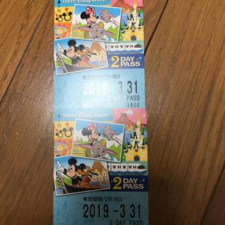 ディズニー(Disney)のディズニーライン 2day 2枚セット(遊園地/テーマパーク)