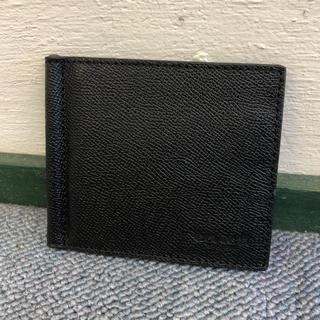 コーチ(COACH)のコーチ 新品 マネークリップ カードケース レザー ブラック C0360(マネークリップ)