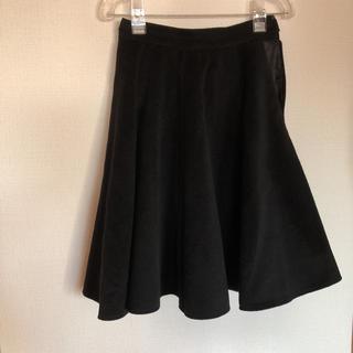 グラスライン(Glass Line)の黒スカート(ひざ丈スカート)