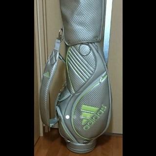 アディダス(adidas)の軽量キャディバッグ アディダス シルバー イエロー ゴルフ キャディバッグ(バッグ)