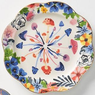アンソロポロジー(Anthropologie)の アンソロポロジー サイドプレート ケーキ皿 きのこ 花柄(食器)