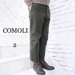 コモリ(COMOLI)の COMOLI コモリ モールスキン バックストラップパンツ (スラックス)