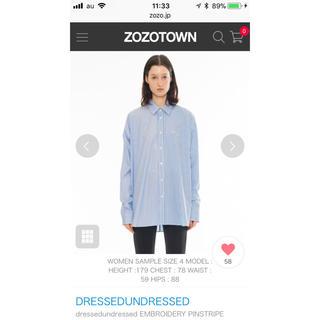 ドレスドアンドレスド(DRESSEDUNDRESSED)のdressedun dressed ストライプシャツ(シャツ)