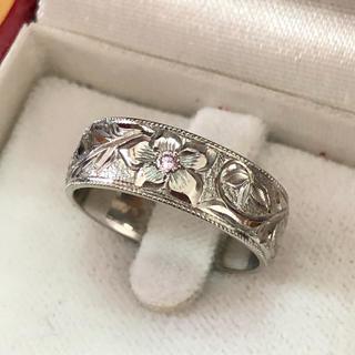 ハワイアンジュエリー ピンクダイヤモンドpt900リング 特注品(リング(指輪))