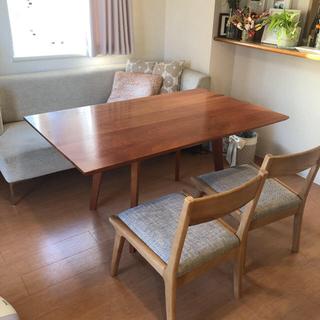 【値下げ】ブラックチェリー無垢材 brunch テーブル(ダイニングテーブル)