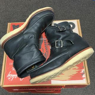 チペワ(CHIPPEWA)のCHIPPEWA ショートブーツ 黒 26.5センチ (ブーツ)