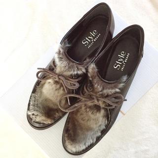 ジェリービーンズ(JELLY BEANS)のファーシューズ(ローファー/革靴)