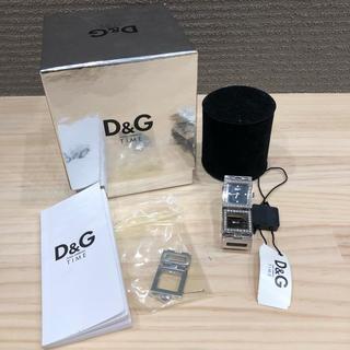 ディーアンドジー(D&G)の即購入OK! D&G TIME レディース 腕時計 ラインストーン 稼働品(腕時計)
