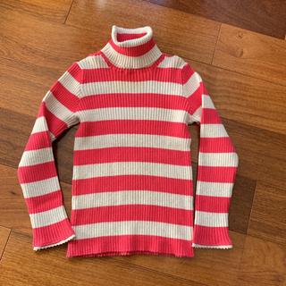 ニードルワークスーン(NEEDLE WORK SOON)の美品★ニードルワークスーン  ボーダーリブタートル 100(Tシャツ/カットソー)