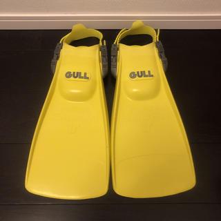 ガル(GULL)の即決 GULL ガル フィン イエロー 黄色 23-24cm(マリン/スイミング)
