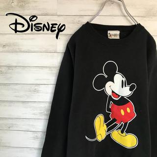ディズニー(Disney)の90s 古着 ミッキー デカロゴ プリントロゴ スウェット(スウェット)